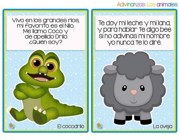 Adivinanzas de animales el cocodrilo y la oveja