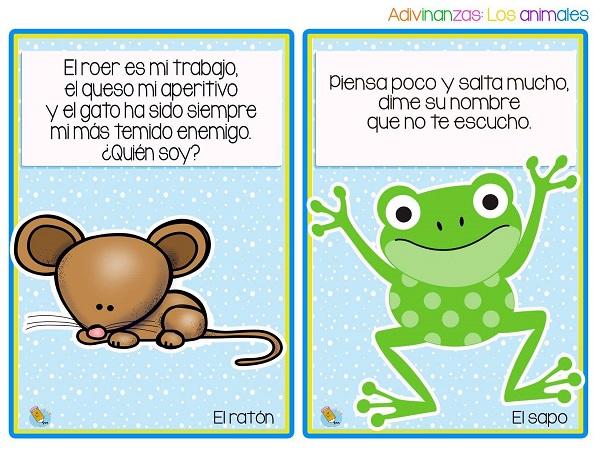 Imagenes de adivinanzas el ratón y el sapo