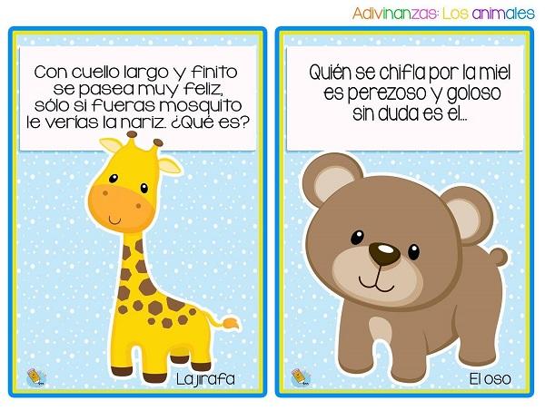 Imagenes de adivinanzas la jirafa y el oso